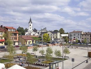 Rynek miejski w Starachowicach
